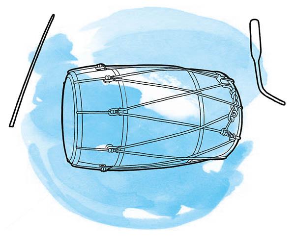 Dhol Drum Illustration