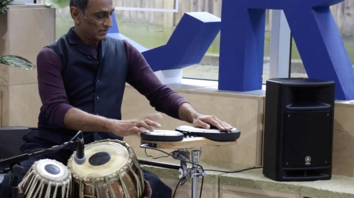Kuljit playing electronic tabla