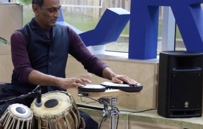 Kuljit playing electronic tabla