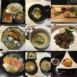 台湾の加賀屋のレストランで台湾人と日本会席料理を食べる