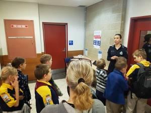 Kedron Cub Scouts visit Police