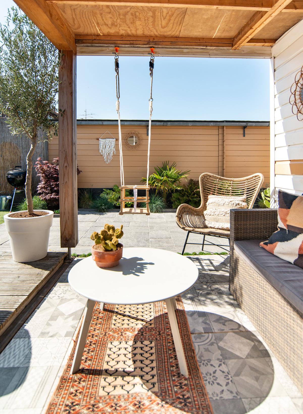 keeelly91 schommel tuin overkapping metamorfose buiten decoratie olijfboom