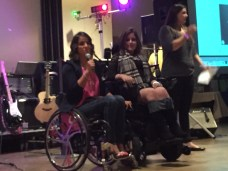 Ally and Victoria Arlen at the fundraiser