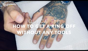 Quick Tip for Summer: How to remove ring from swollen finger? No tools needed!
