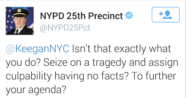 NYPD Captain Starts a Twitter Tussle, Then Apologizes