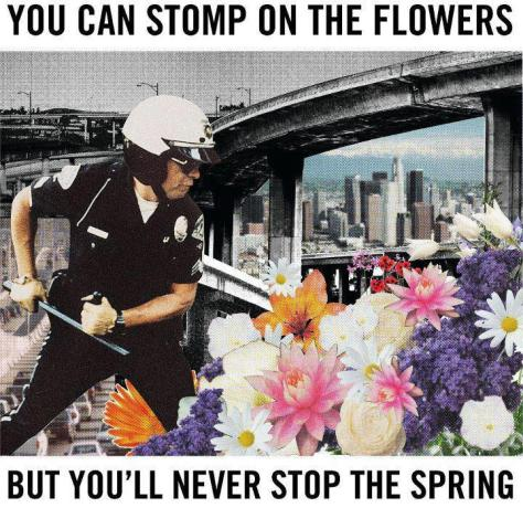 you can stomp the fllowers