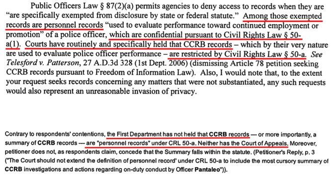 The CCRB Thinks All Of Its Records Are Exempt From Disclosure. They're Not.