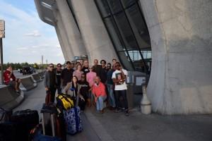 The gang at Dulles
