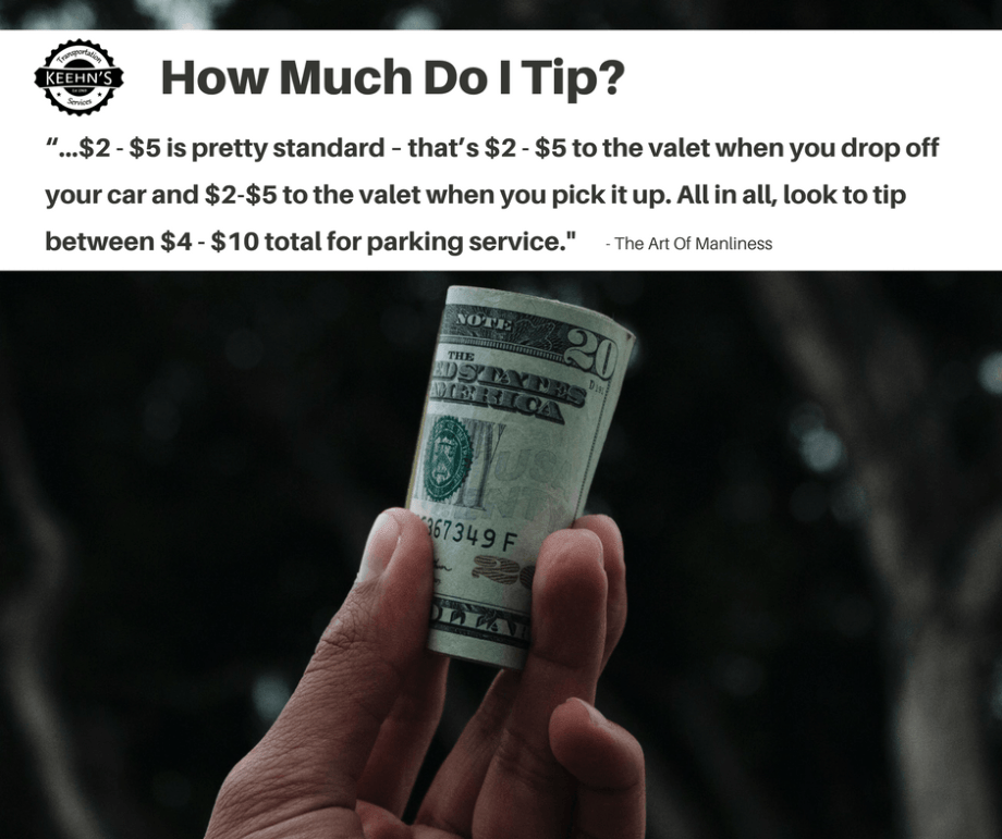 valet tipping advice