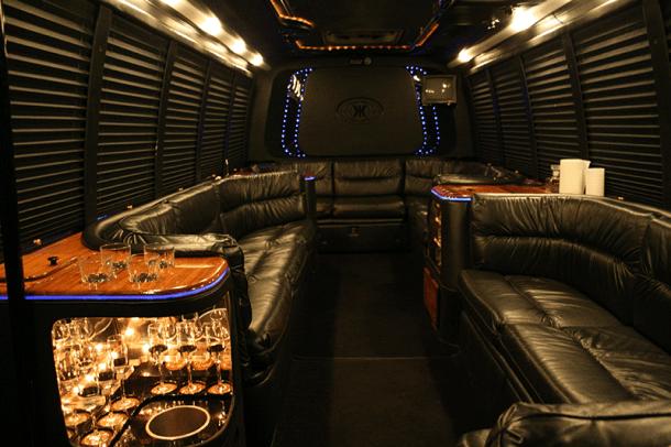 Inside Milwaukee Party Bus
