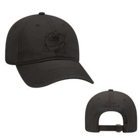 ROSE BLACK HAT (BLACK ON BLACK)