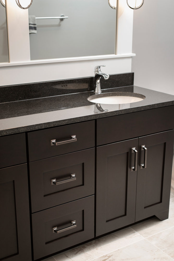 Dark cabinets with bronze hardware for White bathroom cabinets with bronze hardware