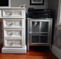 Printer stand and drawers