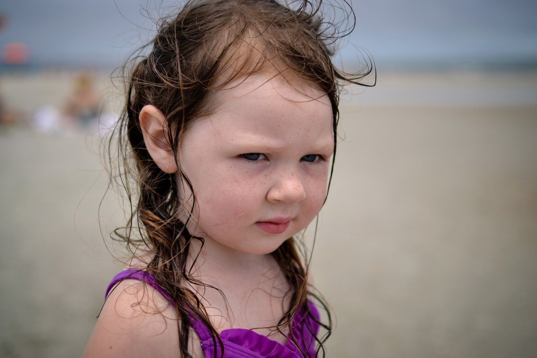 Photo of little girl at the beach