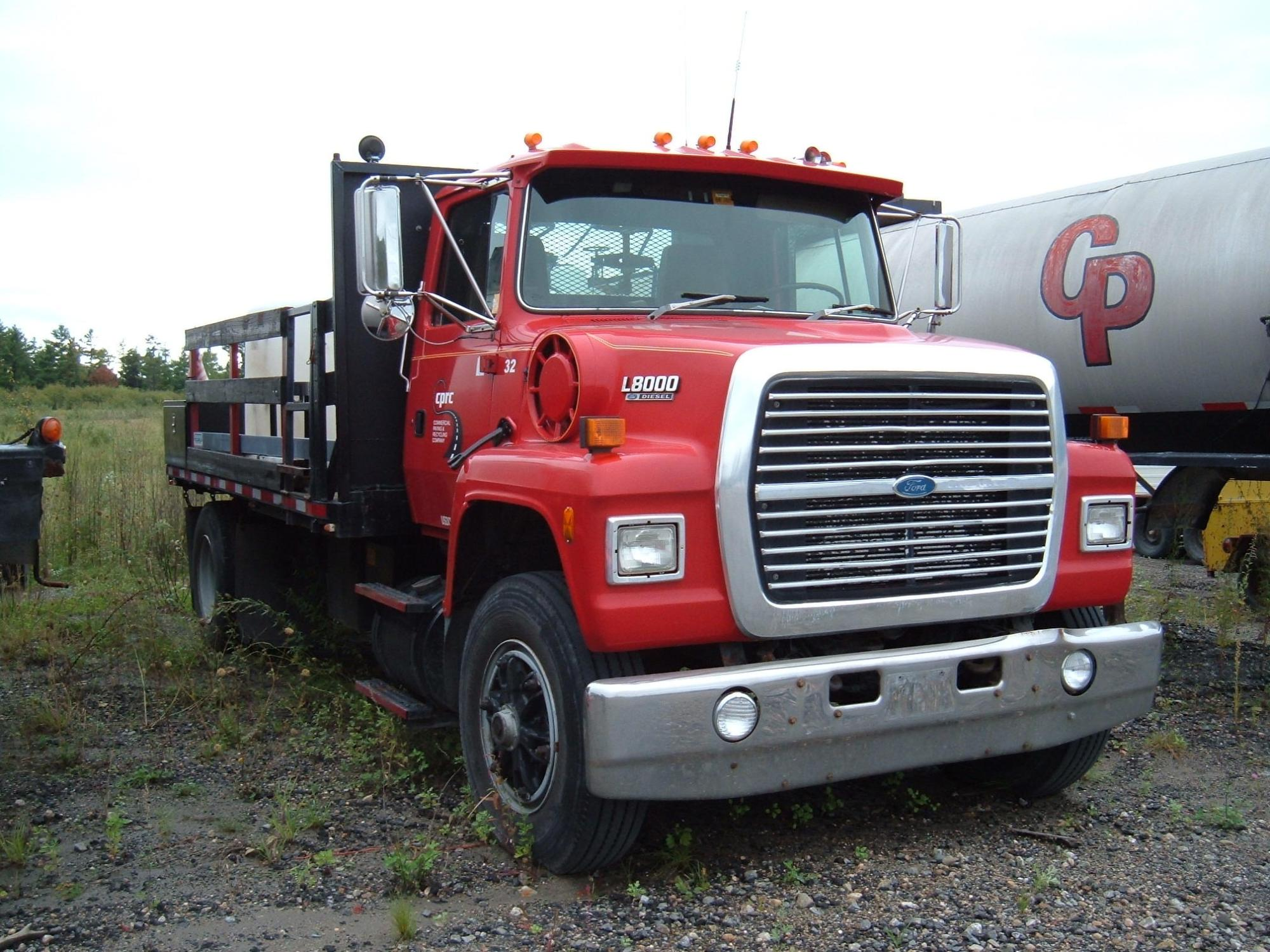 hight resolution of 1993 ford l8000 w 16 flatbed