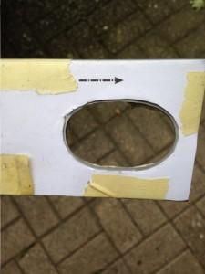 Дырка под передний рейл