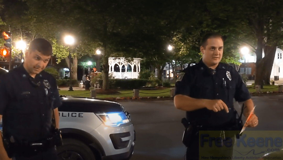 VIDEO: Keene Police Prove it's Business As Usual By Targeting Peaceful Nightcap Event
