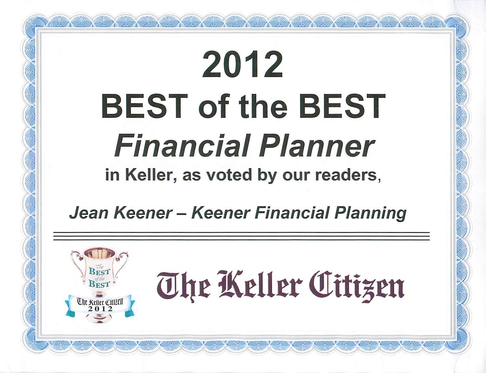Keller Best Financial Planner