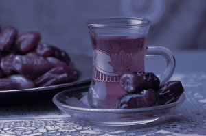 Cup of mint tea & dates