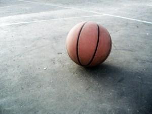 Basketball on the ground