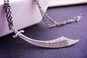 sword pendant with chain