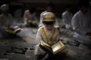 Boy Reading Qur'an