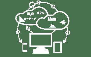 computer, phone,tablet, cloud data