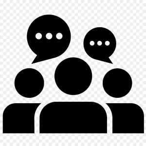 group pf people and speech bubble icons