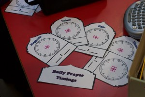 times for daily prayer poster
