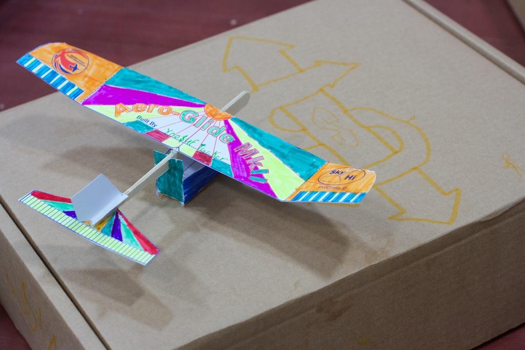 assembled paper plane