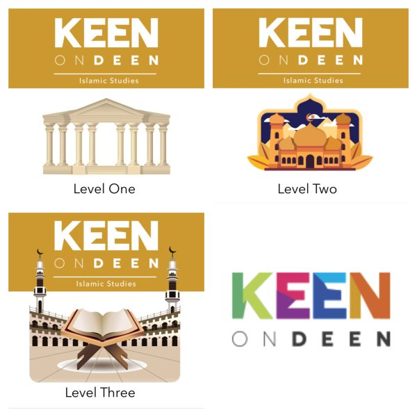 Keen on deen Islamic studies books product picture of each book from level 1 to level 3 - Study Materials