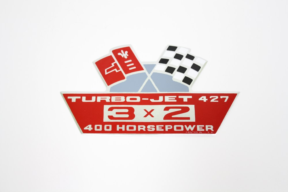 medium resolution of air cleaner decal 427 3x2 400 hp turbo jet tri power 1967 1969