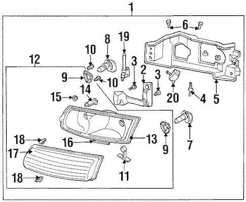 C4 Corvette Headlight Conversion Kit C4 Corvette Body