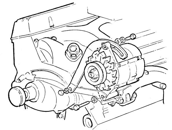 corvette big block alternator without power steering parts parts