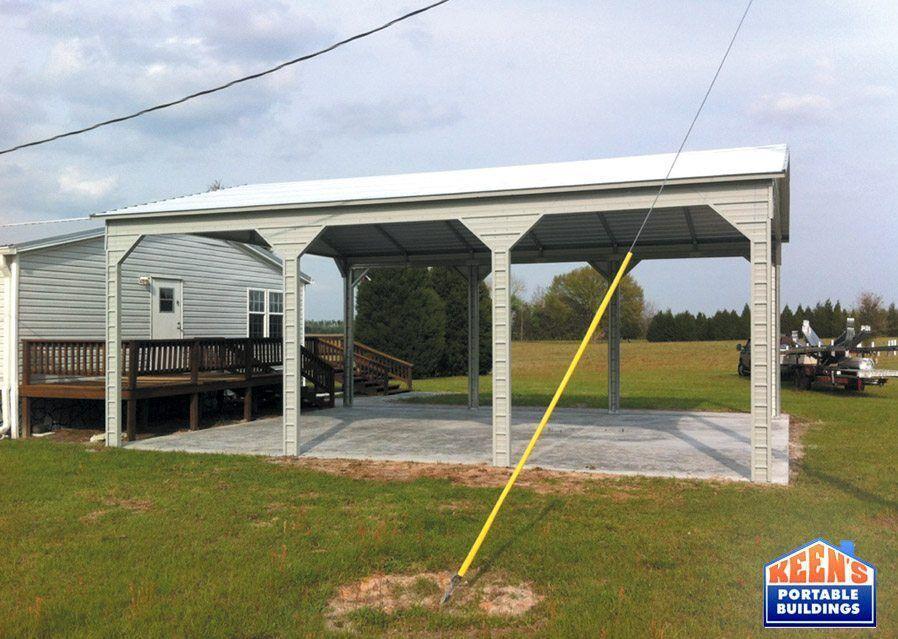 3 Bay Side Entry Carport Vertical Roof Keens Buildings