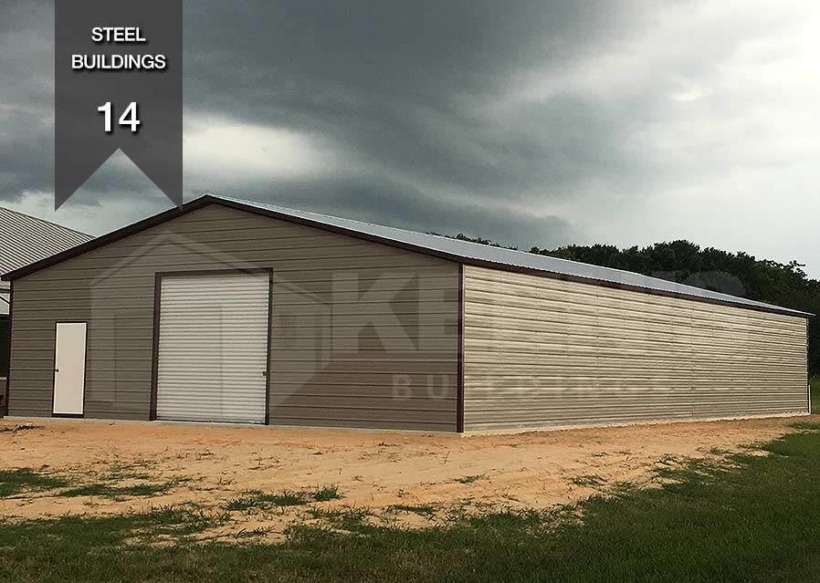 Steel Building KB 14 30x100x12 10x10 door 36x80 door  Keens Buildings