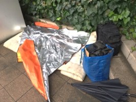 homeless bedding