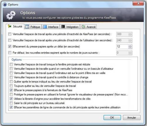 options de keepass