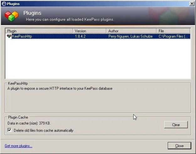 plugin keepass