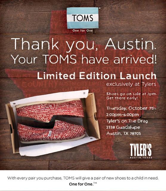 05a6630f37317 Limited Edition Austin TOMS - Keep Austin Stylish
