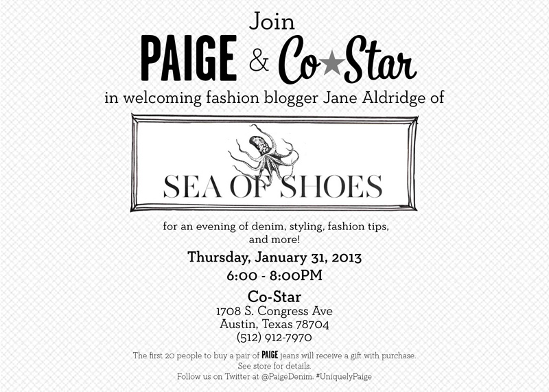 1fad3c7823b Upcoming Event: Fashion Blogger Jane Aldridge of Sea of Shoes with ...
