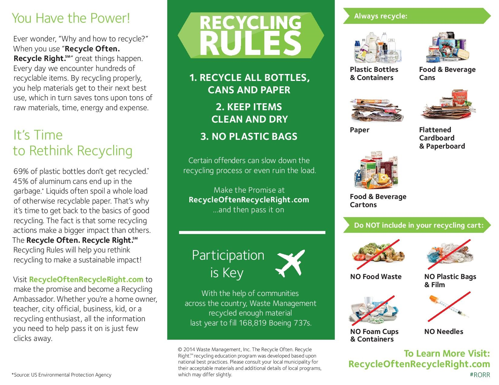 Single Stream Recycling Info From Waste Management Keep