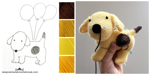 Crochet Spot the Dog Amigurumi designing in progress