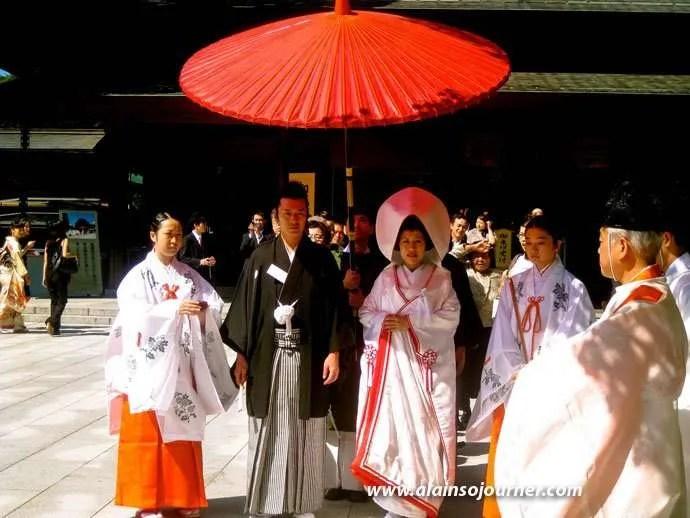 Traditional Japanese Weddings at Meiji Jingu Shrine in Tokyo.