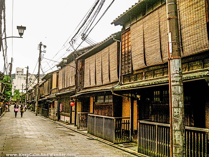 Traditional Japanese Houses in Kyoto.