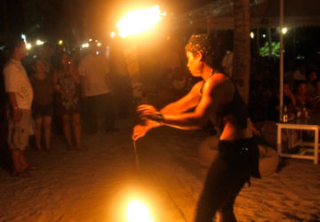 Fire Dancers in Boracay Philippines