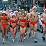2011 Toronto Naked Santa Speedo Run