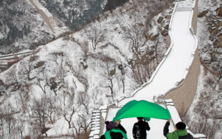 Great Wall of China in Snow.