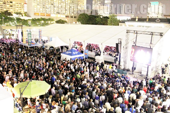 The Crowd at TD Toronto Jazz Festival 2013 at the Opening Night at Nathan Phillips Square