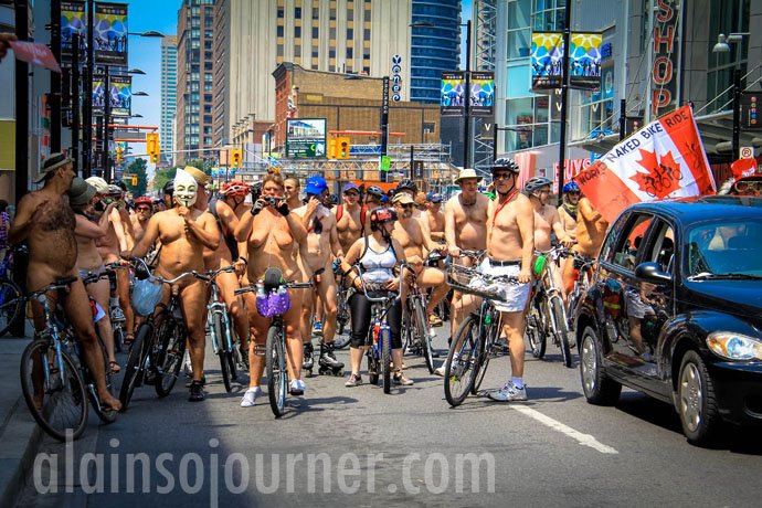 World Naked Bike Ride 2013 in Toronto